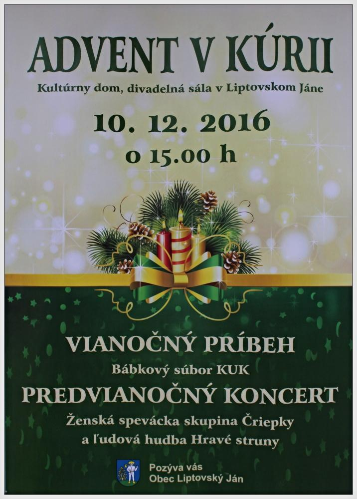 10.12.2016 - Advent v kúrii
